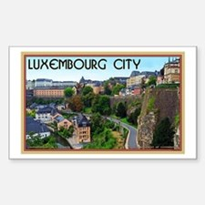 Luxembourg City Sticker (Rectangle)
