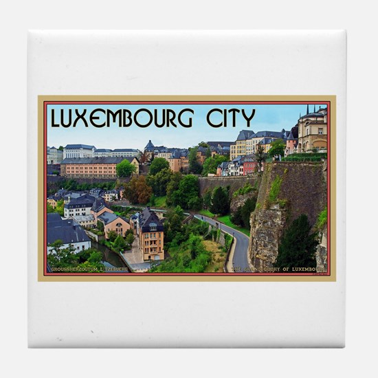 Luxembourg City Tile Coaster