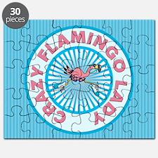 Crazy Flamingo Lady Puzzle