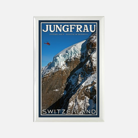 Helo over the Jungfraujoch Rectangle Magnet