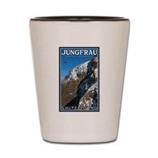 Helo over the Jungfraujoch Shot Glass