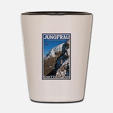Helo over the Jungfraujoch Shot Glass
