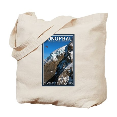 Helo over the Jungfraujoch Tote Bag