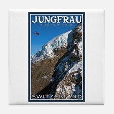 Helo over the Jungfraujoch Tile Coaster