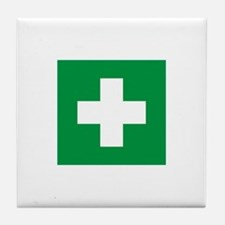 First Aid Tile Coaster