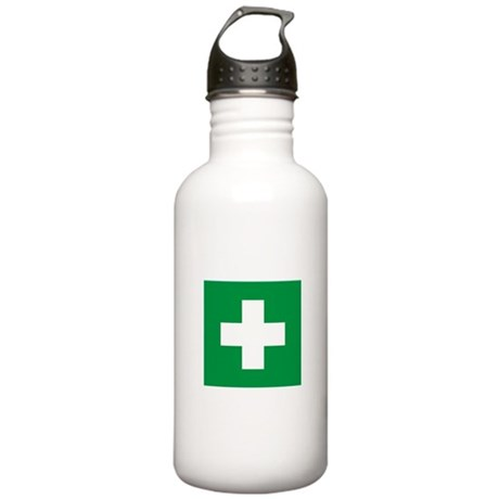First Aid Stainless Water Bottle 1.0L