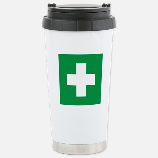First Aid Stainless Steel Travel Mug