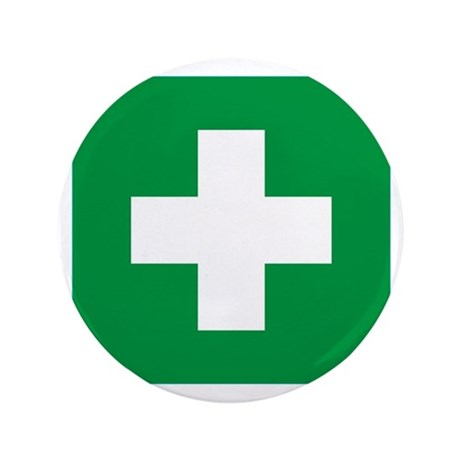 "First Aid 3.5"" Button"