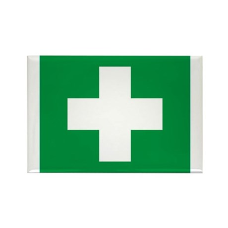 First Aid Rectangle Magnet (10 pack)