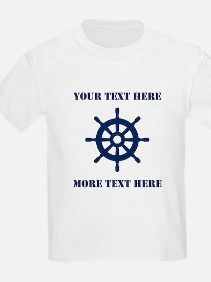 Custom Nautical Skipper T-Shirt For Little Sailor