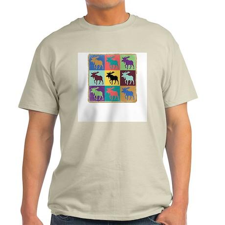 Multi-Moose Ash Grey T-Shirt