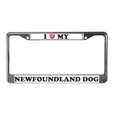 I Heart My Newfoundland Dog License Plate Frame