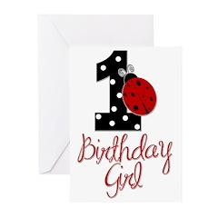 Birthday Girl - LADYBUG 1 Greeting Cards (Pk of 20