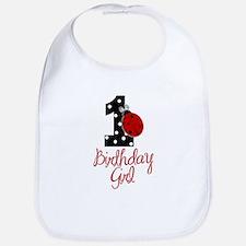 Birthday Girl - LADYBUG 1 Bib