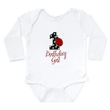 Birthday Girl - LADYBUG 1 Long Sleeve Infant Bodys