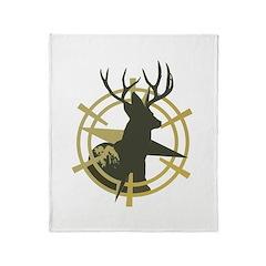 Mule deer,Scout Throw Blanket
