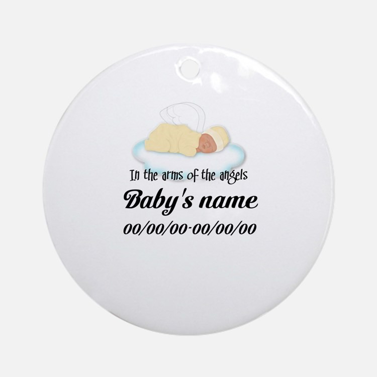 Angel Baby Ornament (Round)