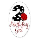 Birthday Girl - LADYBUG 2 Sticker (Oval)