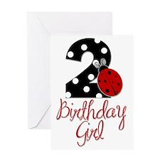 Birthday Girl - LADYBUG 2 Greeting Card