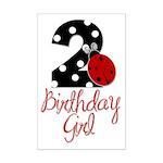 Birthday Girl - LADYBUG 2 Mini Poster Print