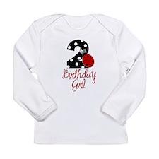 Birthday Girl - LADYBUG 2 Long Sleeve Infant T-Shi