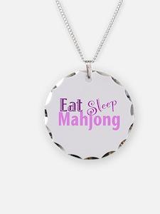 Eat Sleep Mahjong Necklace