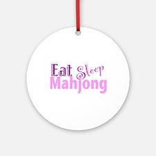 Eat Sleep Mahjong Ornament (Round)
