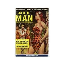 ALL MAN, May 1959 Rectangle Magnet