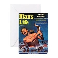 "MAN'S LIFE - ""Weasels Ripped Greeting Card"