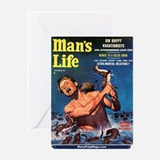 """MAN'S LIFE - """"Weasels Ripped Greeting Card"""
