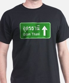Udon Thani Thailand Traffic Sign T-Shirt