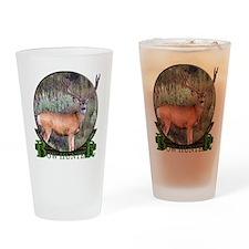bow hunter, trophy buck Pint Glass