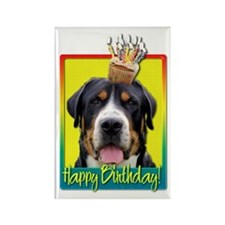 Birthday Cupcake - Swissie Rectangle Magnet (100 p