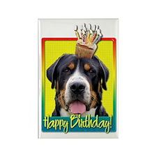 Birthday Cupcake - Swissie Rectangle Magnet