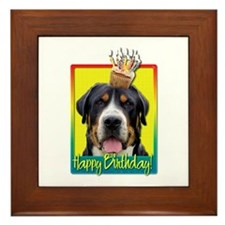 Birthday Cupcake - Swissie Framed Tile