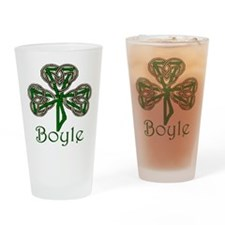 Boyle Shamrock Drinking Glass