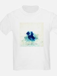 Blue Flames Kids T-Shirt