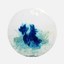 Blue Flames Ornament (Round)