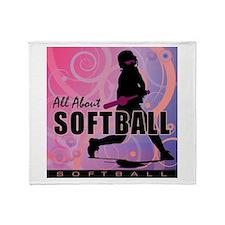 2011 Softball 107 Throw Blanket