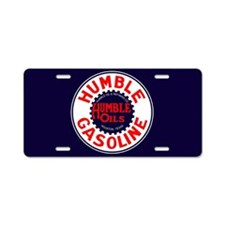 Humble Oil Aluminum License Plate
