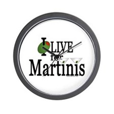 """Martinis"" Wall Clock"