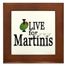 """Martinis"" Framed Tile"