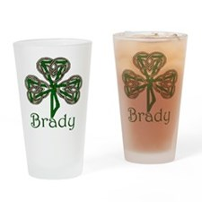 Brady Shamrock Drinking Glass