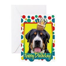 Birthday Cupcake - Swissie Greeting Card