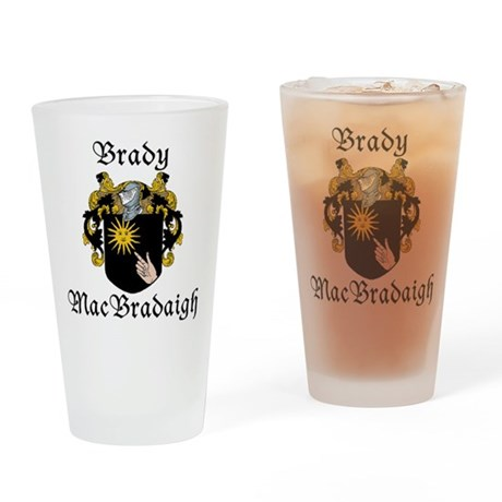 Brady in Irish/English Drinking Glass
