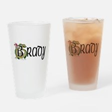 Brady Celtic Dragon Drinking Glass