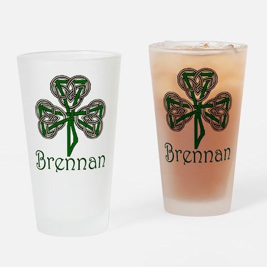 Brennan Shamrock Drinking Glass