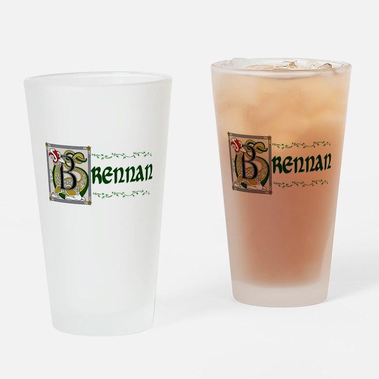 Brennan Celtic Dragon Pint Glass