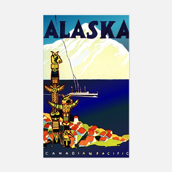 Alaska Poster Sticker (Rectangle)