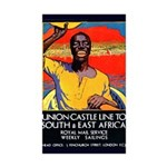 African Poster Sticker (Rectangle 50 pk)